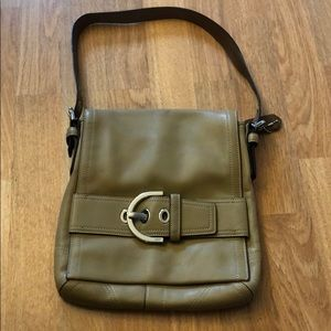 Coach tan leather purse